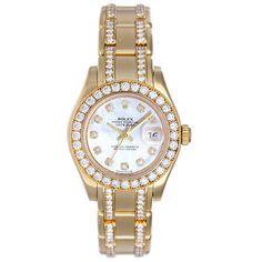 8d6c8e638b2f Rolex Lady Datejust Pearlmaster Gold Diamond Watch Gold Diamond Watches