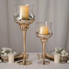 Glass Tealight Candle Holders, Small Candle Holders, Candle Stand, Glass Candle Holders, Tea Light Candles, Tea Lights, Wine Glass Designs, Wine Glass Centerpieces, Wedding Centerpieces