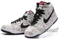 watch 94656 64968 Customs By Onenen Nike Dunk High Tops Womens Gray