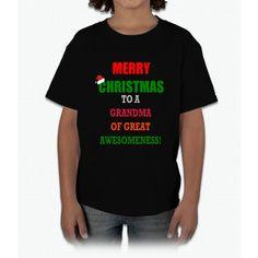 Merry Christmas Grandma Young T-Shirt