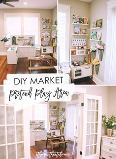 Sharing the building plans and details about the DIY play kitchen space we made for the kids!