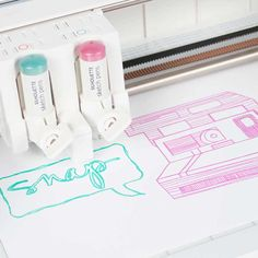 Create stunning multicolor sketch art with the Silhouette Curio's convenient dual carriage.