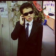 "His ""Halloween"" costume. Secret service agent."