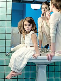 Glamourous mother and child fashion shoot by Gerard Harten