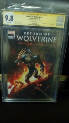 Return of Wolverine #1 Excl. Scorpion Comics,CGC SS,9.8.Signed BY Clayton Crain! Incredible Hulk, Amazing Spider, Metropolis Comic, Fantastic Four 1, Wally West, Cat Signs, New Teen, 8th Sign, Comic Con