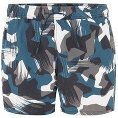 e910b7d87c TOPMAN Camouflage Swim Shorts ($31) ❤ liked on Polyvore featuring men's  fashion, men's