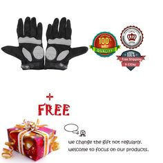 Ezyoutdoor Black Large Size Full-finger Glove for Cycling Bike Outdoor Sports Motorcycle Bicycle Riding Skiing Skating with Bicycle Flashlight Holder Clip Bracket *** You can find out more details at the link of the image.