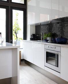 Zwart Witte Keukens op Pinterest - Witte Keukens, Keukens en Kasten