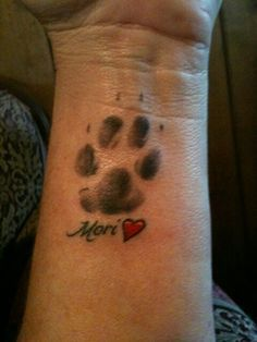 Paw print tattoo, This is what I want to do!! Love it