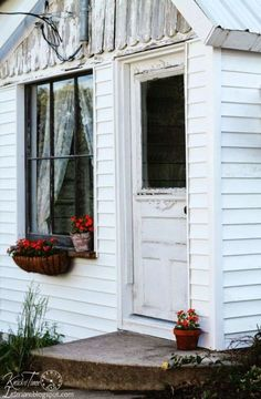 Once a dilapidated farmhouse shed, this now sweet cottage and guest space is full of quaint details.  See more photos of this space here.