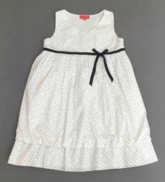 Vestido mayoral blanco y rosa