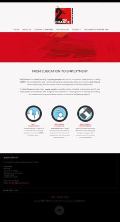 Chance aims to support young people into sustained employment by offering them a second chance Young People, Charity, Student, Activities, Education, Teaching, Onderwijs, Studying