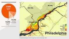 These maps represent the storm surge risks to coastal properties in Philadelphia.