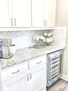 Supreme Kitchen Remodeling Choosing Your New Kitchen Countertops Ideas. Mind Blowing Kitchen Remodeling Choosing Your New Kitchen Countertops Ideas. White Kitchen Cabinets, Kitchen Redo, New Kitchen, Kitchen Ideas, Pantry Ideas, Gray Cabinets, Kitchen Cabinetry, Awesome Kitchen, Small Condo Kitchen