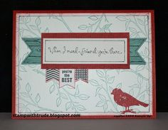 stampwithtrude.blogspot.com , Trude Thoman, Stampin' Up!, Choose Happiness, friendship card, Choose Happiness, Friendship Cards, Bird Cards, You're Awesome, Scrapbook Pages, Stampin Up, Birthday Cards, Card Ideas, Card Making