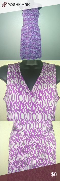 41 Hawthorn Dress Purple Gray  Size Small 41 Hawthorn  Women's Dress Sleeveless Tie Front  Purple/Gray Size- Small Pre-owned ..Good Condition Dresses