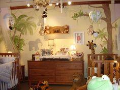 Neutral baby jungle room ideas  #nursery #jungle #theme #kidsrooms #animals #elephants #lion #giraffe #monkey #baby