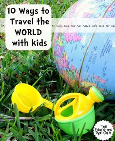 10 Ways to Travel the World with Kids. Learning through play, crafts, recipes and activities discover this fun activity ideas to learn about other cultures.