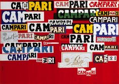 Campari brand and advertising story, and its patronage of the arts Moma, Concrete Art, List Of Artists, Arte Pop, Italian Artist, Initial Letters, Design Reference, Vintage Posters, Proposal