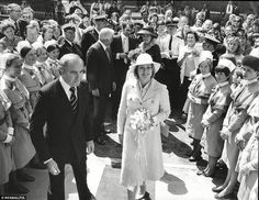 High flying adored: The princess is pictured in 1977 with Stanley Balfour-Lynn of American Medical International holding a bouquet of flowers