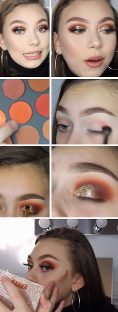 Gold Glitter Half Cut Crease | Awesome Christmas Makeup Ideas for Blondes
