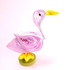 How to Make a Beautiful Quilled Duck via @Guidecentral - Visit www.guidecentr.al for more #DIY #tutorials