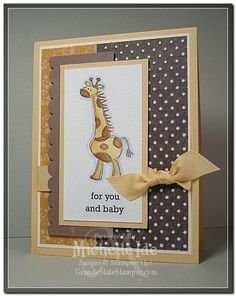 giraffe card - which one of you girlies will make this for my birthday then?