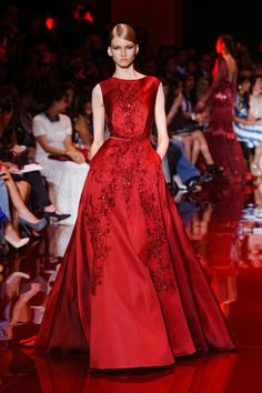 Elie Saab red couture Fall 2014