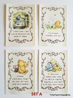 Winnie the Pooh Quotes Prints for Framing 2 Different Sets Baby Shower Birthday Nursery Decoration 46 or 57 Inches See All Options Winnie The Pooh Themes, Winnie The Pooh Nursery, Winne The Pooh, Winnie The Pooh Birthday, Winnie The Pooh Quotes, Baby Birthday, Disney Nursery, Baby Shower Quotes, Baby Shower Themes