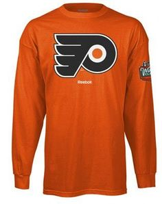NHL Philadelphia Flyers Orange 2010 Winter Classic Reebok Just Logos Long Sleeve T-Shirt (X-Large) by JAGZ. $15.99. For many a fan, this singular image says it all - the logo. Support the Flyers at this historic event in your Philadelphia Flyers Orange 2010 Winter Classic Reebok Just Logos Long Sleeve T-Shirt. Features screenprinted image on chest.