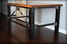 Industrial Desk by UrbanIndustrialWorks on Etsy