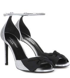 25c532ba7619e SAINT LAURENT Jane glitter sandals.  saintlaurent  shoes  sandals Brilhar  Saltos Altos