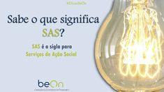 Os Serviços de Ação Social são regularmente descritos como SAS. E você, sabia desta?  #DicasBeOn #Economia #Contabilidade #Dicas Social Work Activities, Accounting, Bench Seat, Human Resources, Index Cards