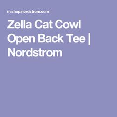 Zella Cat Cowl Open Back Tee | Nordstrom