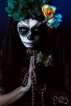 Day of the dead studio shot. #darkbeauty #makeup #studio #photography