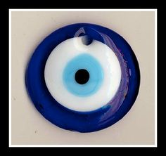 Items similar to Large Evil Eye Glass Pendant on Etsy Mystic Eye, Turkish Eye, Eye Symbol, Greek Evil Eye, Wedding Giveaways, Greek Wedding, Bead Store, Evil Eye Pendant, Fused Glass