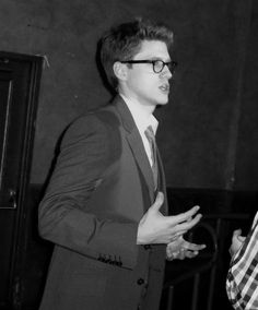 """""""Aaron Tveit. In glasses. UNIVERSE WHY MUST YOU TAUNT ME."""" -- Whoever this is, I feel ya. I understand your pain. ;)"""