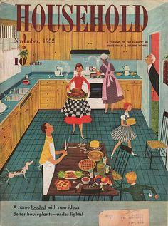 Household magazine, November Illustration by Lorraine Fox Vintage Advertisements, Vintage Ads, Vintage Images, Vintage Prints, Vintage Posters, Vintage Sweets, Vintage Apron, Vintage Graphic, Vintage Style