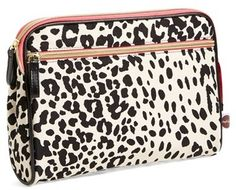 Nordstrom steph&co 'Leopard' Large Nylon Cosmetics Case Exclusive) on shopstyle.com