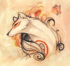 It has been such a long time I last submitted anything worthy. It's a small gift for Naon over Ovipets. I realised I never drew adult Amaterasu... Ōkami (c) Capcom Watercolor texture: by ~Vale...