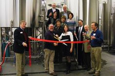 Kevin and Michelle DeLange were perfect hosts on Jan. 31, 2013 at the ribbon cutting and open house for the new Dry Dock Brewing Facility at 2801 Tower Rd. in Aurora. The beer was delicious and refreshing, and a good time was had by all!