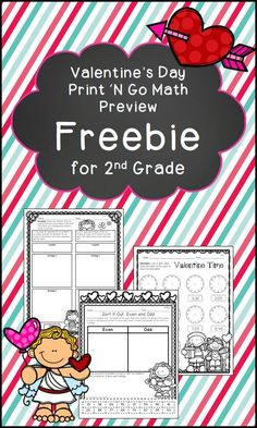 Check out this short freebie for 2nd grade math print 'n go pages.