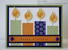Cute birthday card idea! @Patricia K. Thomas but brighter happier colors/prints