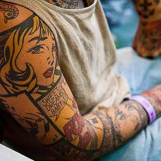 comic book sleeve #tattoos #ink