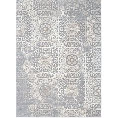 With a beautiful ivory and grey coloring in an oriental pattern, this rug will be a stylish addition to your home. A soft pile and contemporary design make this rug a beautiful accent to any room.