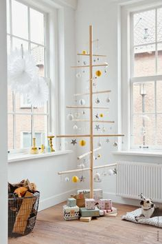 Simply fabulous touch of Scandinavian | 10 Unusual Christmas Trees - Tinyme Blog
