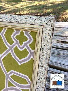 Picture frame painted and repurposed into a chore board / bulletin board