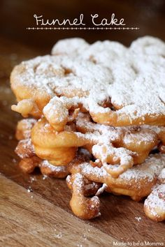 Funnel Cake recipe!  I used to LOVE these!  So fun to try to make at home!