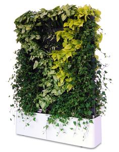 --Mobile green wall by Greenworks. Looks like they're using something like wooly pockets to hold the plants.