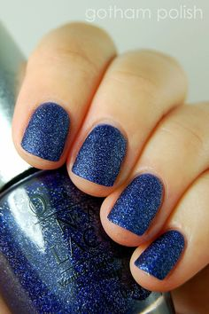 DS Lapis is a calming twilight blue with tiny silver glitter.